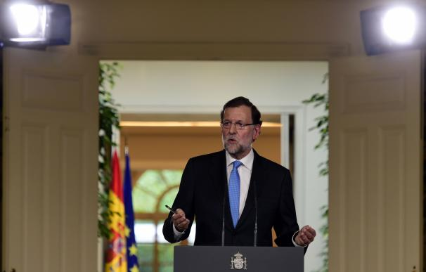 El presidente del Gobierno, Mariano Rajoy, este lunes.