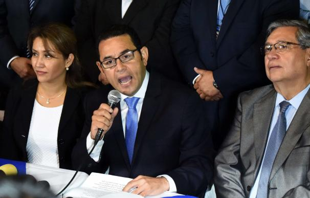 President-elect Jimmy Morales, of the National Fro