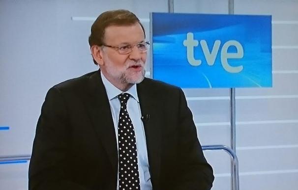 Rajoy, durante su entrevista en TVE.