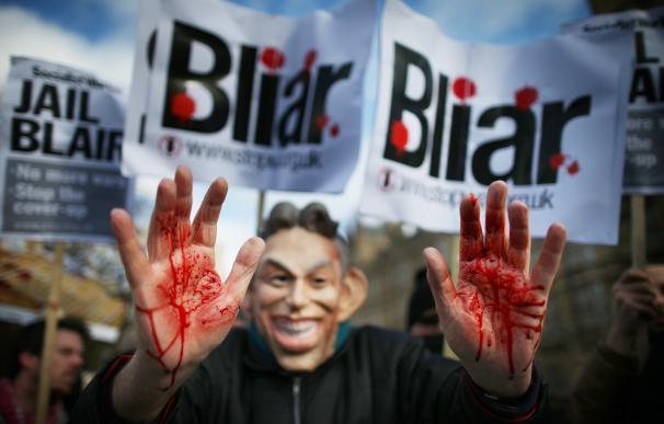 Manifestación contra la participación de Reino Unido en la guerra de Irak / AFP