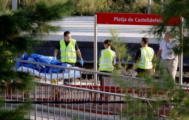 Al menos 12 muertos tras ser arrollados por un tren en Castedefells Playa