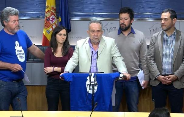 Unidos Podemos pide en el Congreso una revisión del modelo de gestión pública del agua