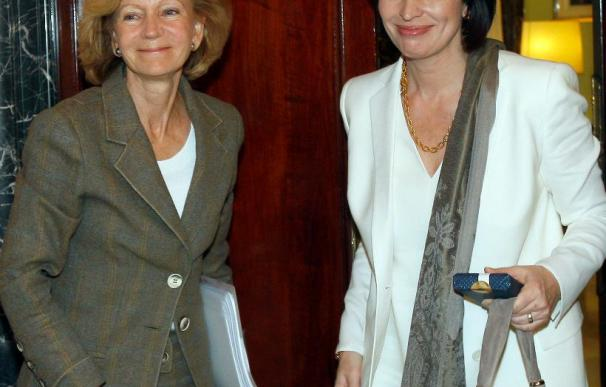 Los Reyes almuerzan en la Zarzuela con la presidenta de Suiza, Doris Leuthard