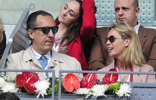 Jaime de Marichalar disfruta del tenis junto a su íntima amiga Rosa Mairal