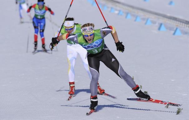Alemania batió por seis décimas a Suecia en el sprint por equipos