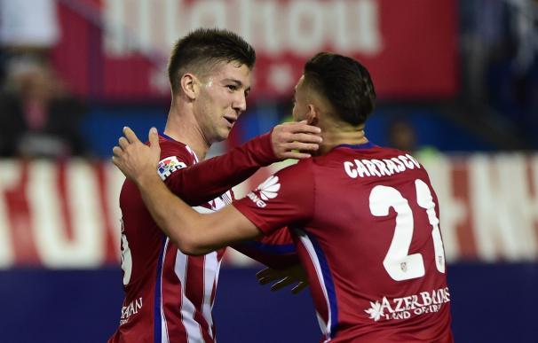 Vietto anotó el tanto del empate del Atlético a falta de cinco minutos. / AFP