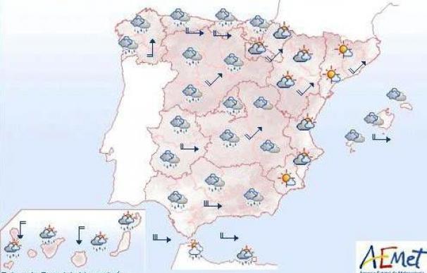 Vientos muy fuertes en el Cantábrico, Cataluña, Levante y Andalucía