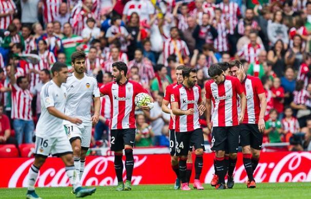 El Athletic Club remontó y se llevó la victoria ante el Valencia. / Getty Images