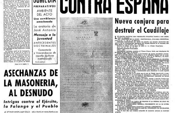 Una red de espías facilitó a Franco informes falsos para perseguir a los masones