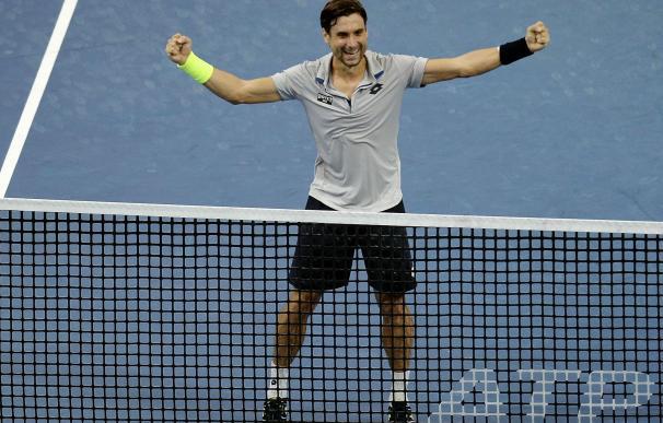 David Ferrer celebra su triunfo ante Feliciano López en el Abierto de Malasia (AFP)