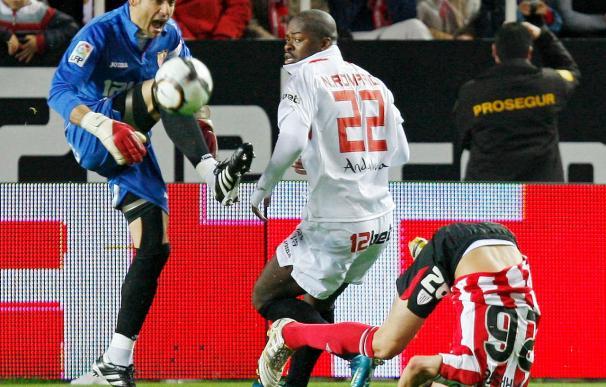 0-0. El Sevilla, con diez, no pudo ante un Athletic demasiado conservador