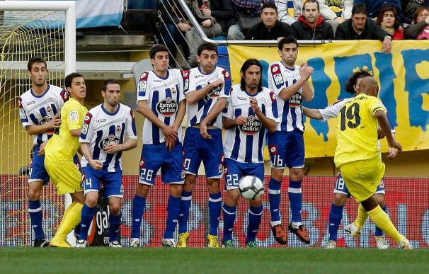 1-0. El Villarreal frena la dinámica negativa ante un Deportivo batallador