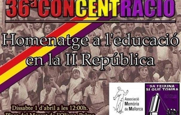 'Sa Feixina sí que tomba' y Memòria de Mallorca reivindicarán este sábado la educación en la segunda República