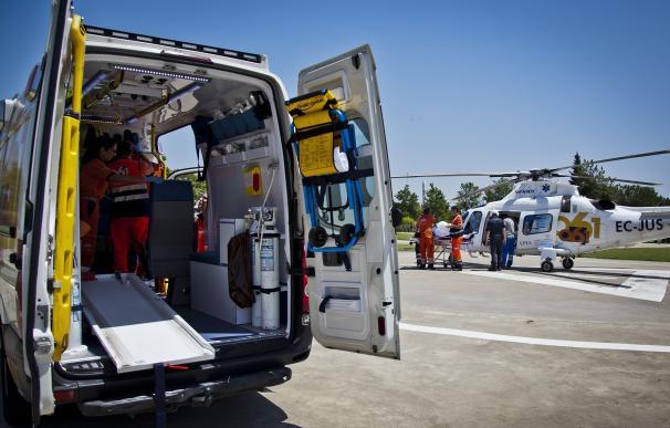El 061 trasladó por vía aérea a una decena de personas por traumatismos graves en el Mundial de Sierra Nevada