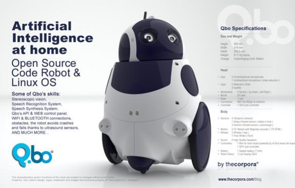 Qbo, un robot para el hogar