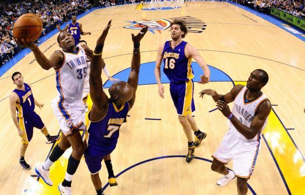 Gasol, Bryant y Jackson admiten la superioridad de los Thunder en la NBA; Durant, feliz