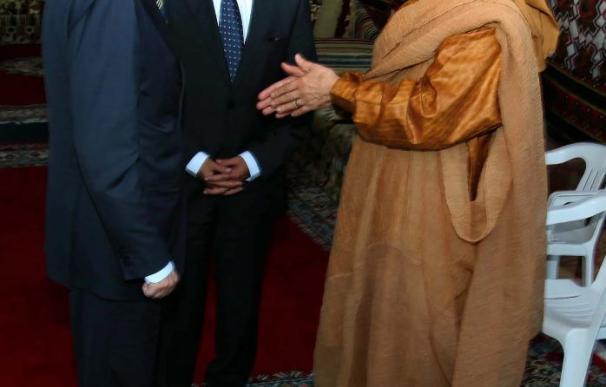 Gadafi reafirma su compromiso de abrir Libia a las empresas españolas