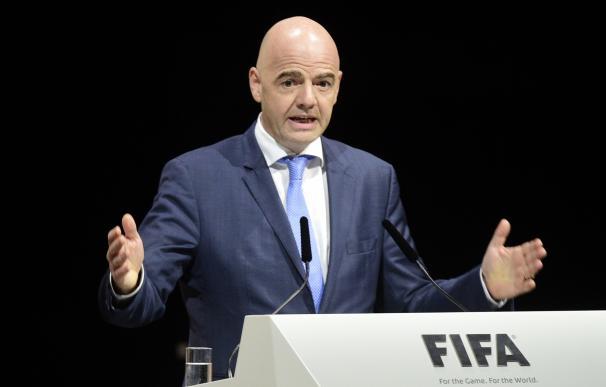 FIFA presidential contender Gianni Infantino deliv