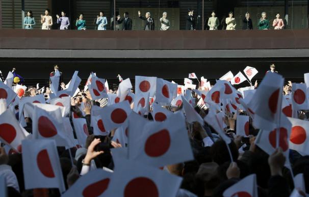 El emperador Akihito y toda su familia felicitan el Año Nuevo a los japoneses