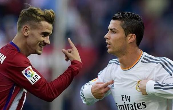 Griezmann y Cristiano Ronaldo, duelo capital en el derbi.