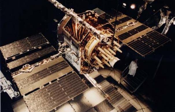 Uno de los actuales satélites GPS