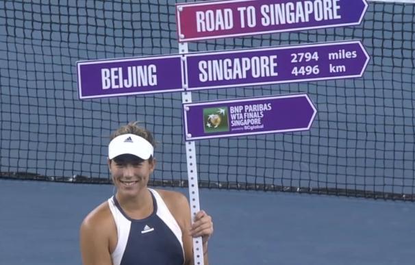 Muguruza se enfrentará a Kvitova, Safarova y Kerber en Singapur