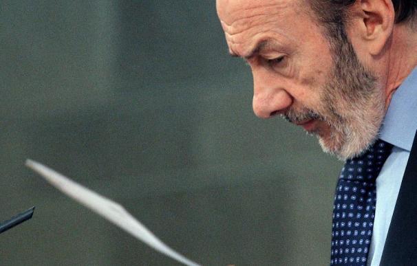 """Rubalcaba dice que el etarra detenido en Francia no tramaba """"nada bueno"""""""