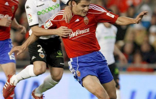 La victoria asegura al Zaragoza no caer en el descenso, ante un Valencia sin Villa