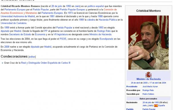 Cristobal Montoro en Wikipedia