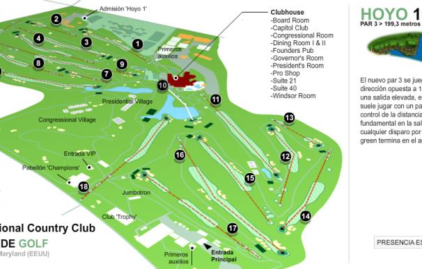Así es el Congressional Country Club, sede del US Open