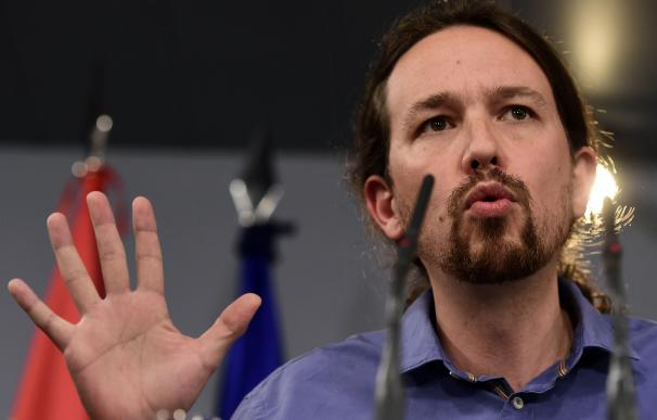 El secretario general de Podemos, Pablo Iglesias, este viernes en el Palacio de La Moncloa.