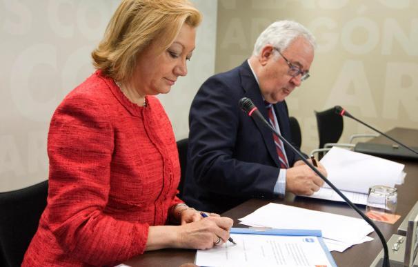 Rudi firma con Biel un preacuerdo que le garantiza ser presidenta de Aragón