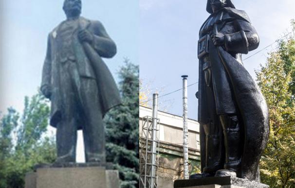 Un artista transforma una estatua ucraniana de Lenin en Darth Vader