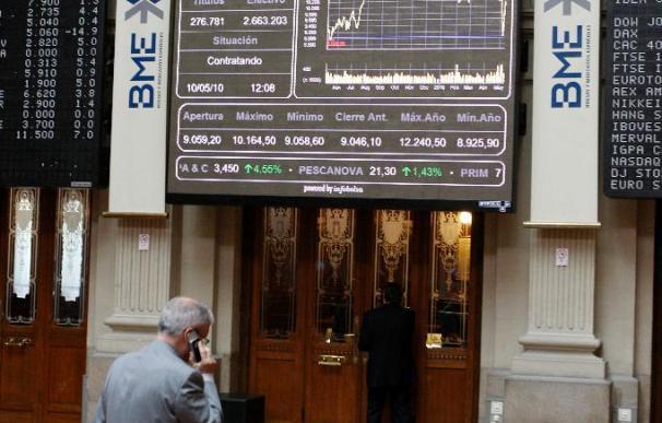 La Bolsa española comienza la semana en positivo y el Ibex sube el 1,12 por ciento
