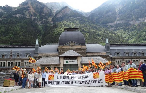 El PAR reivindicará de nuevo en Canfranc la reapertura de la línea y los pasos a Europa por Aragón
