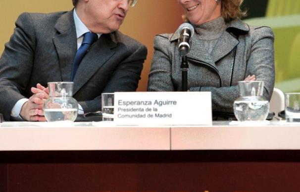 Esperanza Aguirre recibió la primera entrada para la final del Bernabéu