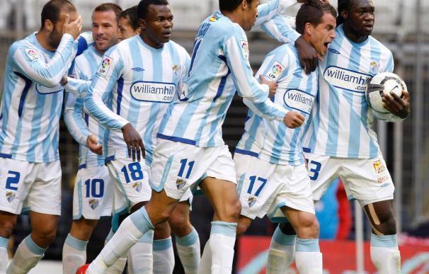 La plantilla del Málaga trabajó con la ausencia de cinco jugadores tocados