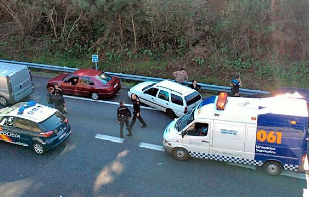 Escenario del tiroteo contra los zamoranos en plena VG-20