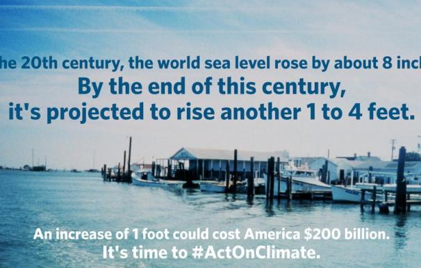Uno de los muchos mensajes que la Casa Blanca lanza a través de la cuenta de Twitter dedicada a combatir el cambio climático. (@factsonclimate / Twitter)