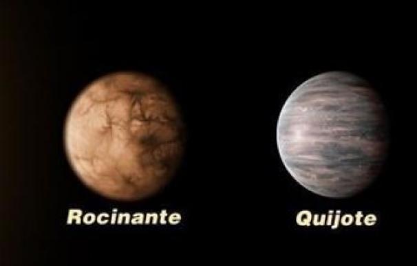 Recreación del sistema planetario con los nombres de los personajes del Quijote. (EstrellaCervantes.es)