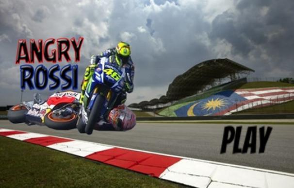 Angry Rossi, un juego que inspira la acción entre Rossi y Márquez.