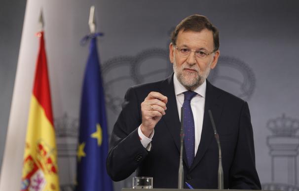 El presidente del Gobierno, Mariano Rajoy, en una comparecencia.