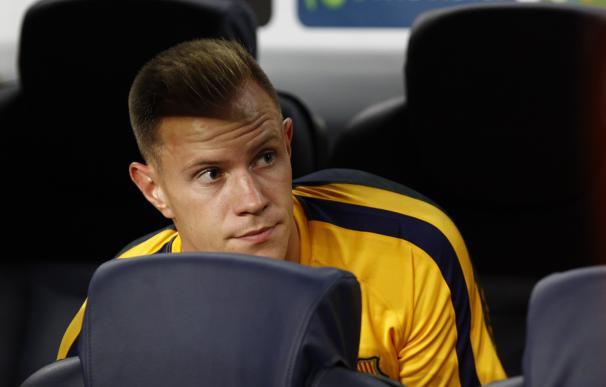 Ter Stegen, descontento con su situación en el Barcelona / AFP