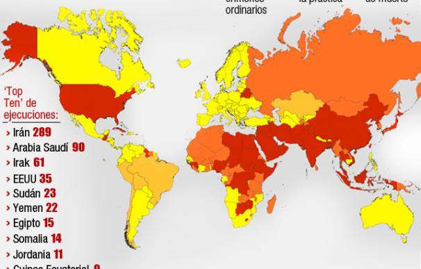 La pena de muerte por países