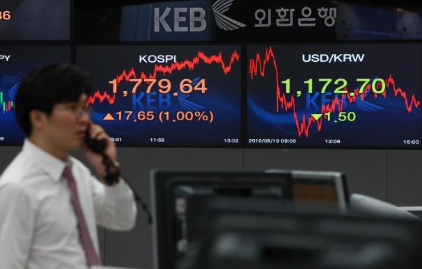 El índice Kospi sube 9,29 puntos, el 0,53 por ciento, hasta 1.744,08 puntos