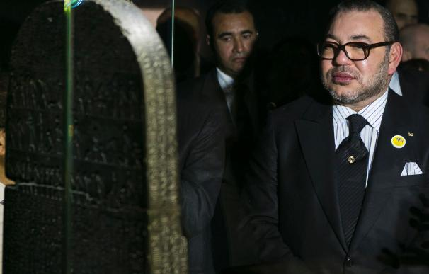 Morocco's King Mohammed VI visits the exhibition