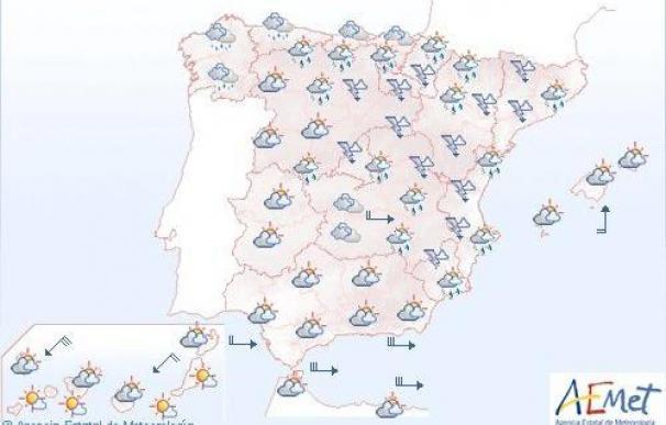 Mañana, nuboso en la mayor parte del país y posibles chubascos en el este