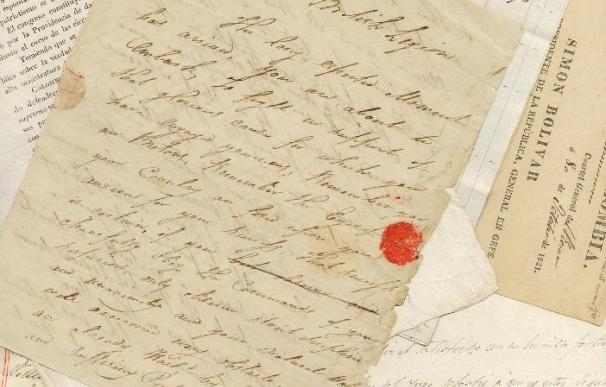 Vendidos en Londres un poema, una carta y un mechón de pelo de Simón Bolívar