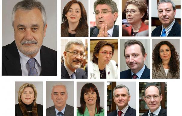 Toman posesión los 13 consejeros del segundo Gobierno de Griñán en un año