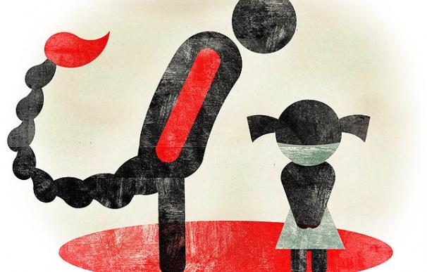 El abuso sexual a menores, según el ilustrador Raúl Arias.